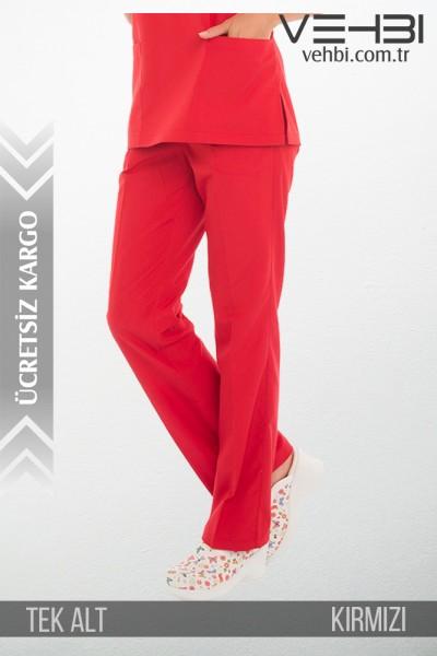 Alpaka Kumaş Forma Tek Alt (Kadın Pantolon)