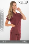 Zarf Yaka Doktor-Hemşire Forma Üst (Alpaka Kumaş-Yarasa Kol-Bayan)