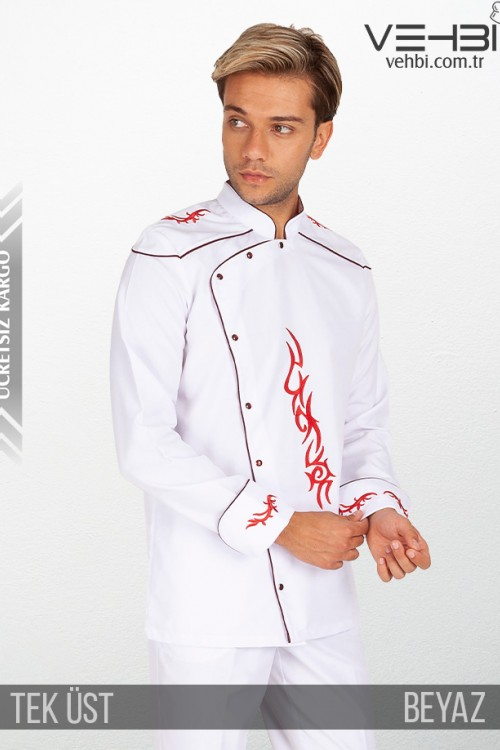 Showoff Erkek Aşçı Kıyafeti Elbisesi Ceketi Tek Üst