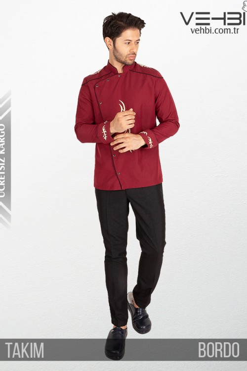 Showoff Erkek Aşçı Kıyafeti Elbisesi Ceketi Takımı