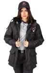 Yeni Tip Kamu Özel Güvenlik Kadın Kabanı (İç Montlu) - 3D Arma Apolet Hediyeli