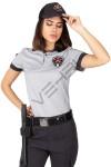 Yeni Tip Kamu Özel Güvenlik Kadın Yazlık Kısa Kol Tişört - 3D Arma Apolet Hediyeli