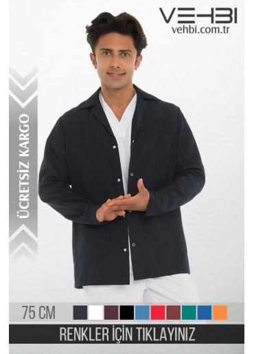 Klasik Yaka Erkek Ceket Kısa Önlük (Alpaka Kumaş)
