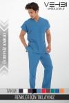 Zarf Yaka Doktor-Hemşire Forma Takım (Terikoton Kumaş-Yarasa Kol-Erkek)